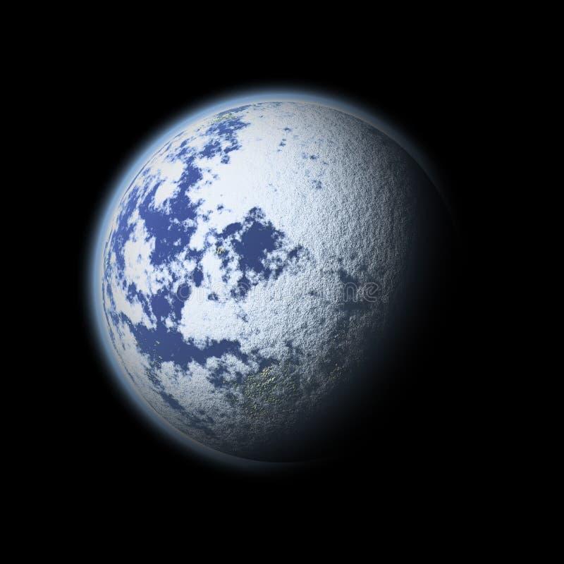Terra do planeta (planeta gelado) ilustração royalty free