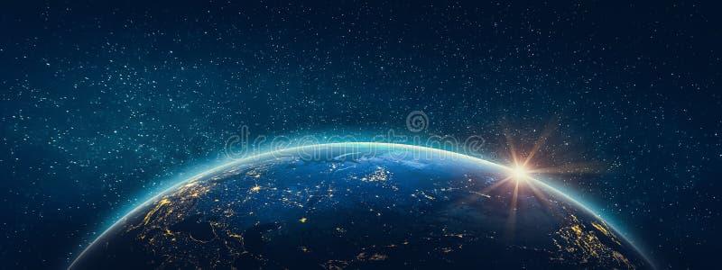 Terra do planeta - Rússia Elementos desta imagem fornecidos pela NASA ilustração do vetor