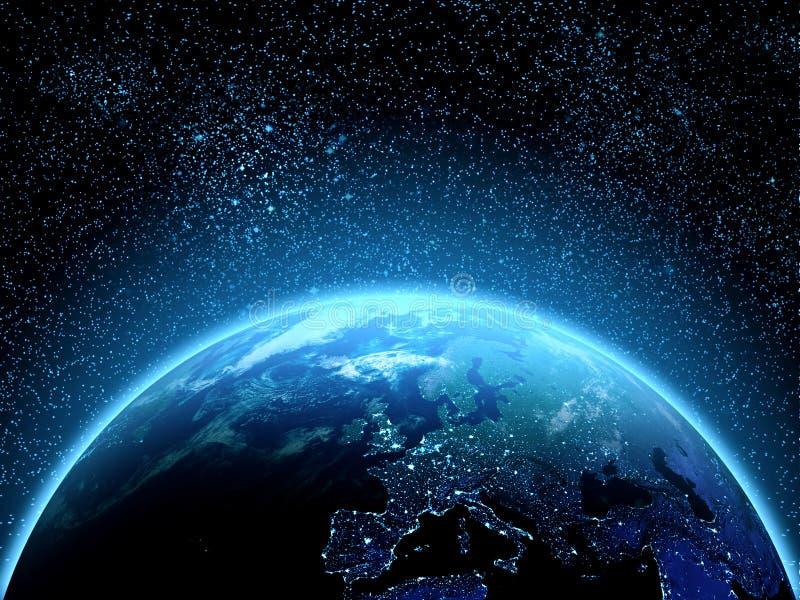 Terra do planeta vista do espaço imagem de stock royalty free