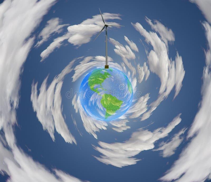 Terra do Windpower ilustração stock