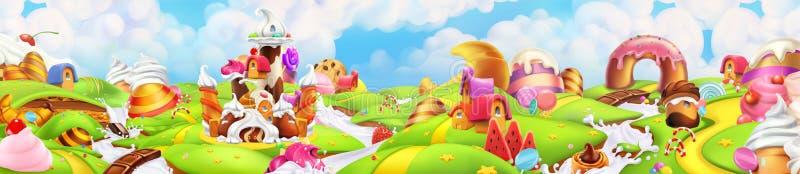 Terra dolce Paesaggio di panorama, vettore royalty illustrazione gratis