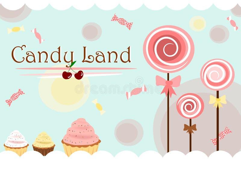 Terra dos doces ilustração royalty free
