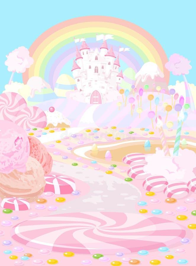 Terra dos doces ilustração do vetor