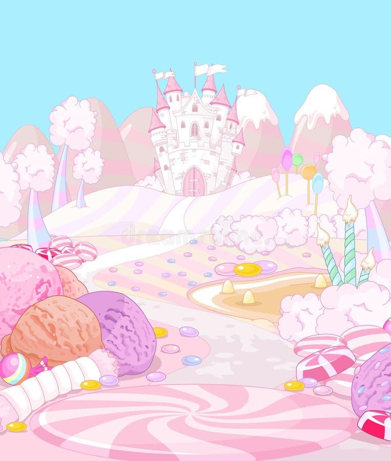 Terra dos doces ilustração stock