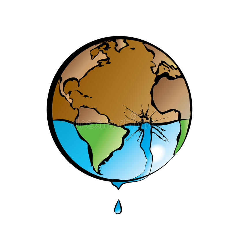 Terra e água 2 ilustração royalty free
