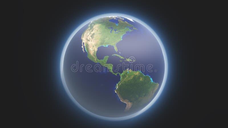 Terra e atmosfera ilustração royalty free