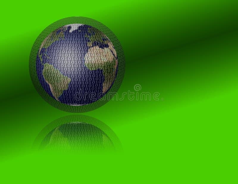 Terra e binário ilustração do vetor