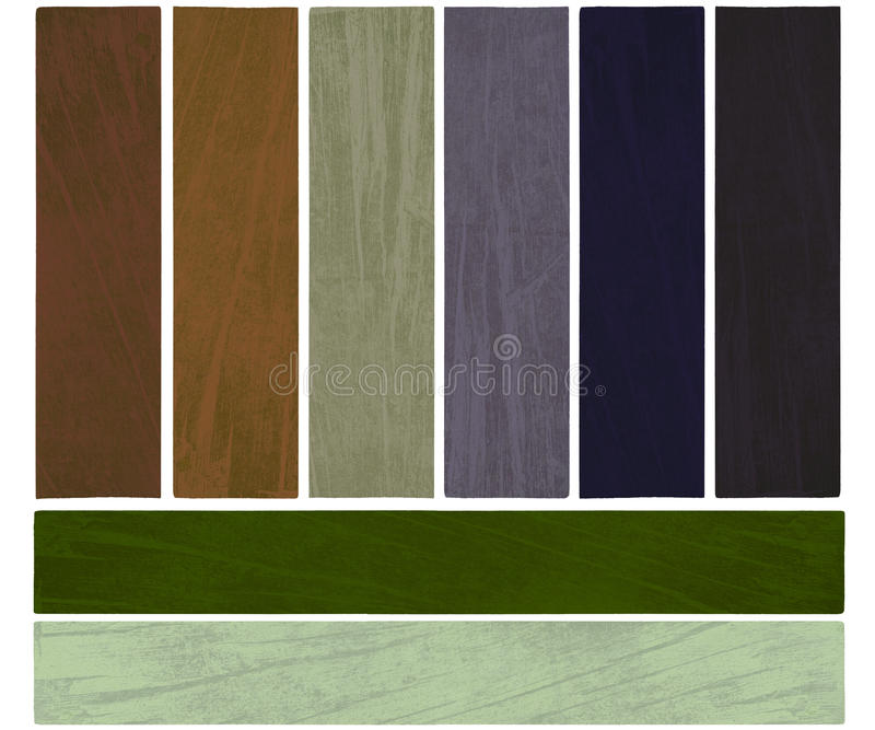 A terra e a cor do crescimento textured o jogo da bandeira imagem de stock