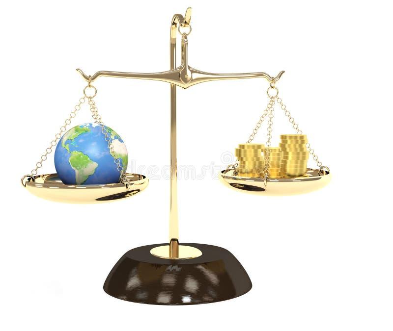 Terra e dinheiro ilustração royalty free