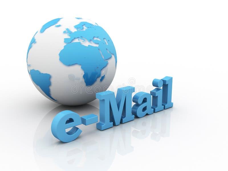 Terra e email ilustração stock