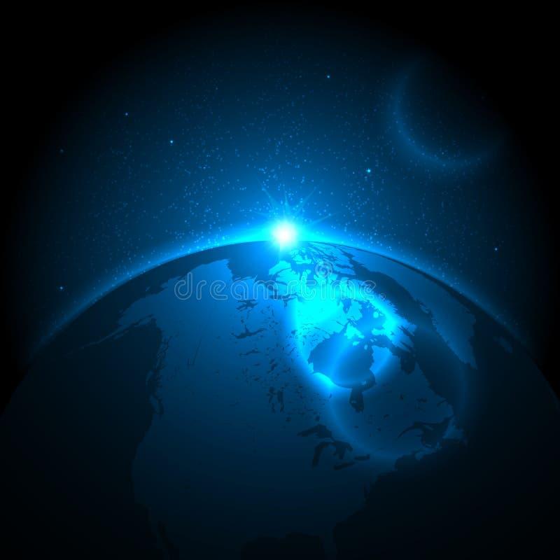 Terra e espaço ilustração royalty free