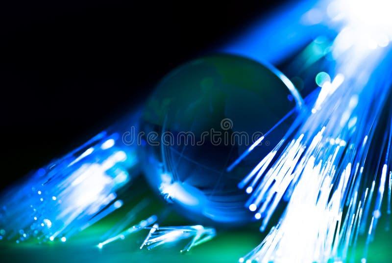 Terra e fibras ópticas fotos de stock royalty free