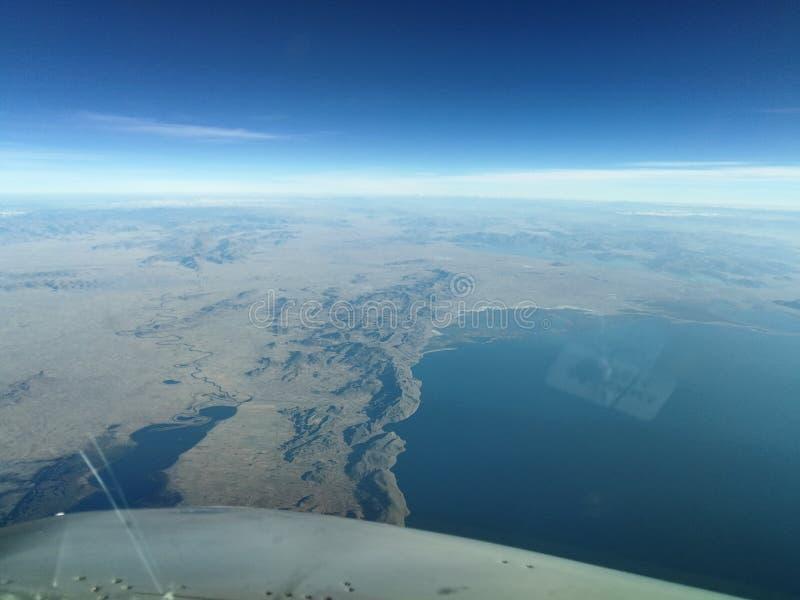 Terra e lagos imagens de stock