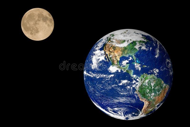 Terra e lua imagens de stock royalty free