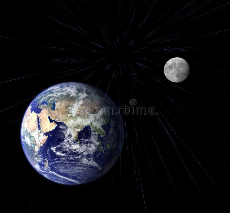 Terra e luna illustrazione vettoriale