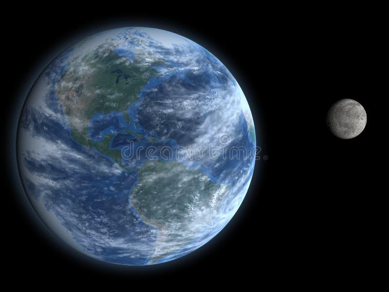 Terra e luna fotografia stock libera da diritti