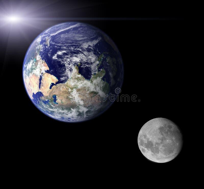 Terra e luna royalty illustrazione gratis