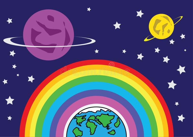 Terra e Marte dell'arcobaleno fotografie stock libere da diritti