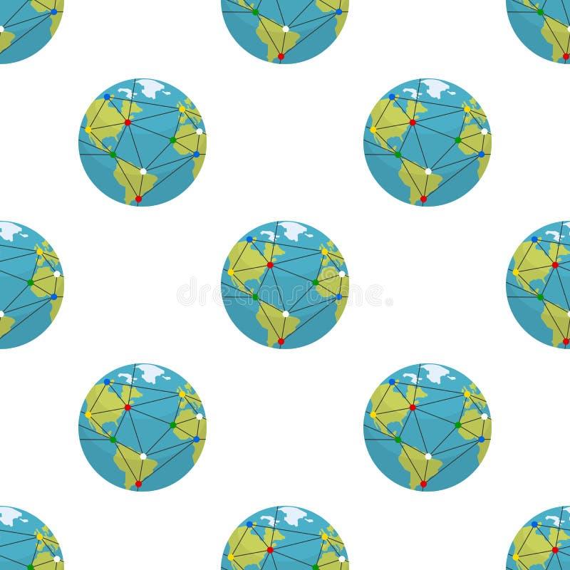 Terra e modello senza cuciture di globalizzazione royalty illustrazione gratis