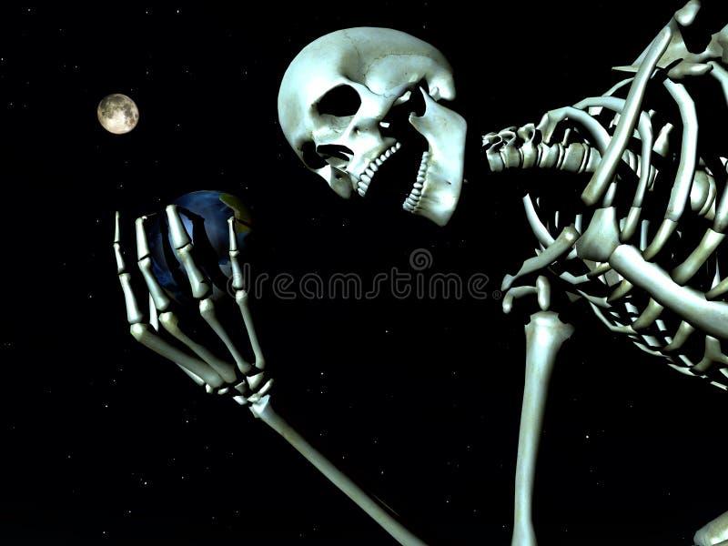 Terra e osso 12 ilustração royalty free