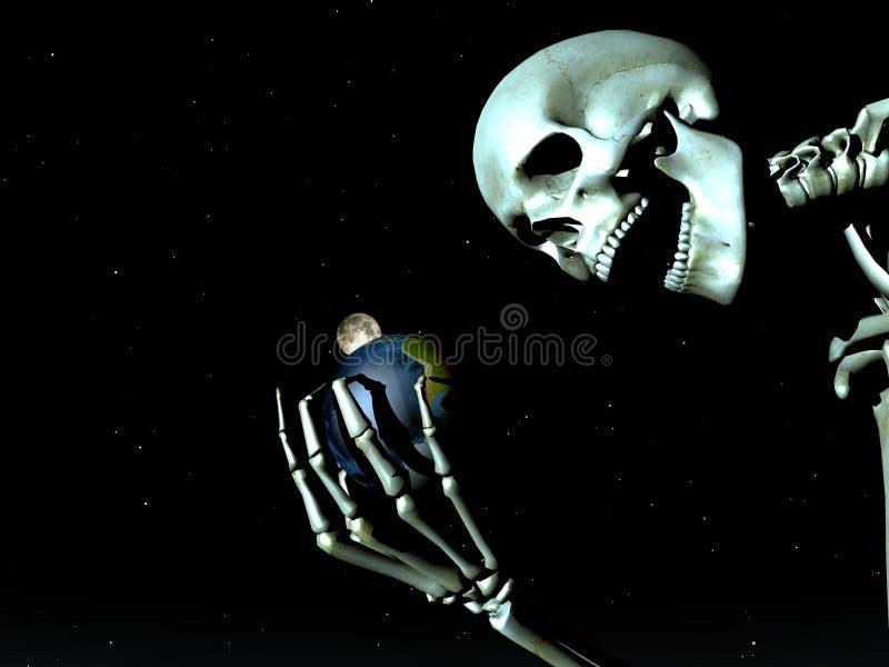 Terra e osso 12 ilustração stock