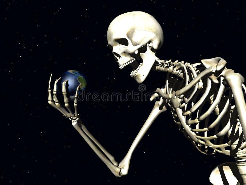 Terra e osso ilustração royalty free
