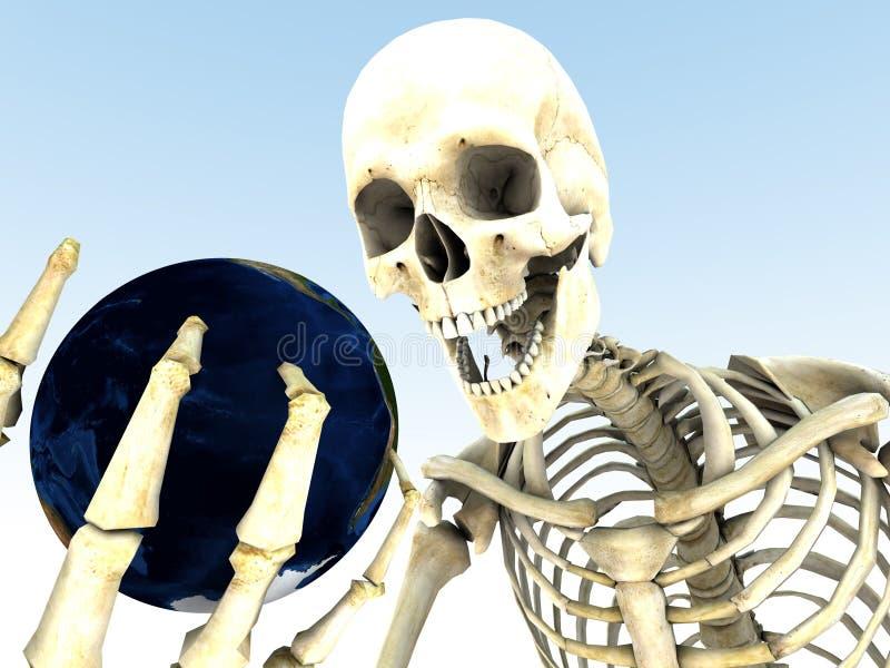 Terra e osso ilustração stock