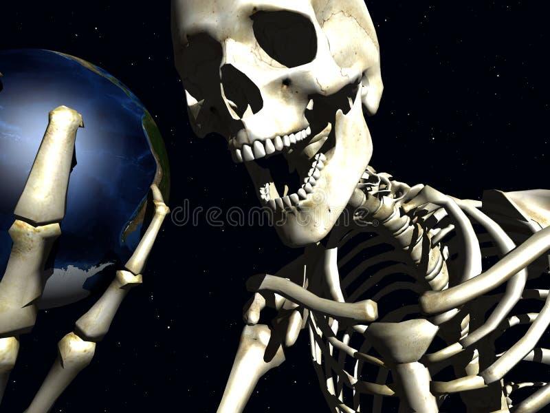 Terra e osso 4 ilustração royalty free