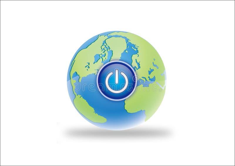 Terra e a potência ilustração do vetor