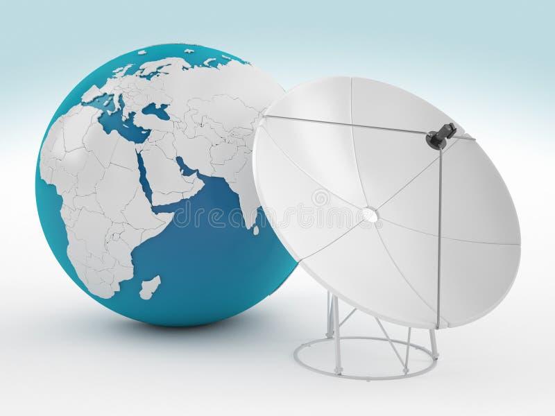 Terra e satélite ilustração stock