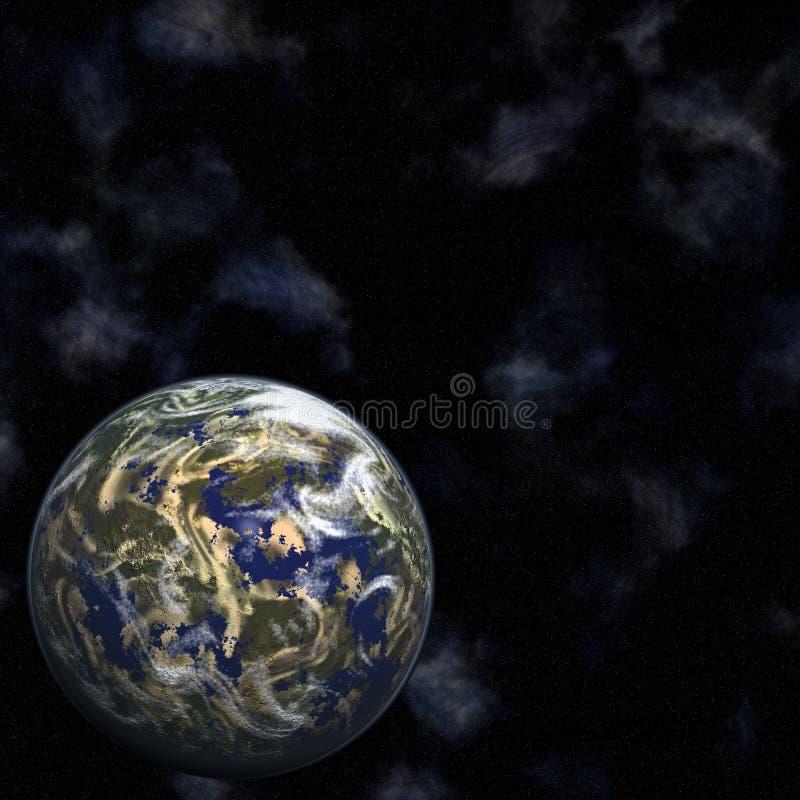 Terra e stelle illustrazione vettoriale