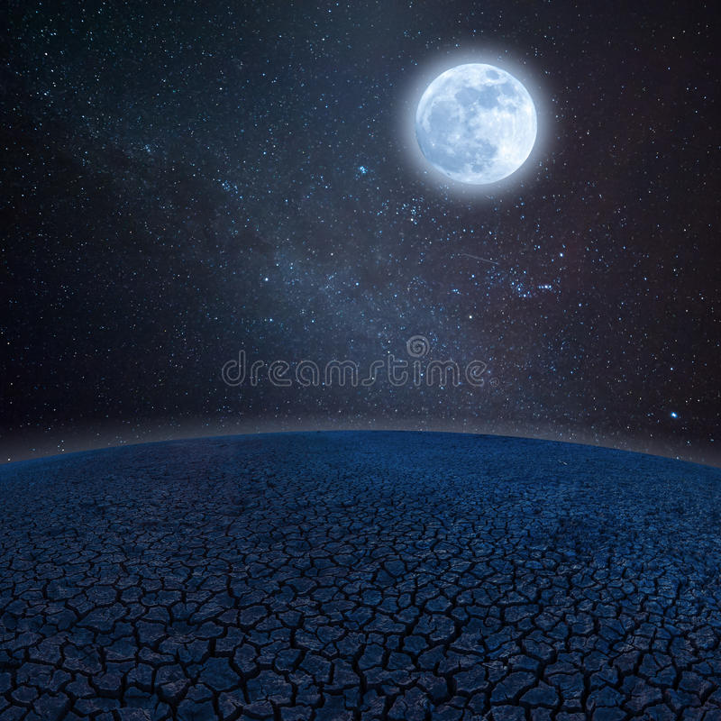 Terra e stelle asciutte fotografia stock