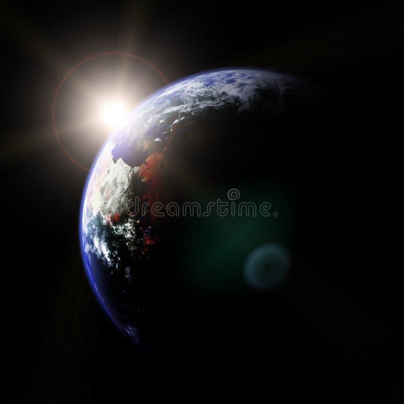 Terra e Sun illustrazione vettoriale