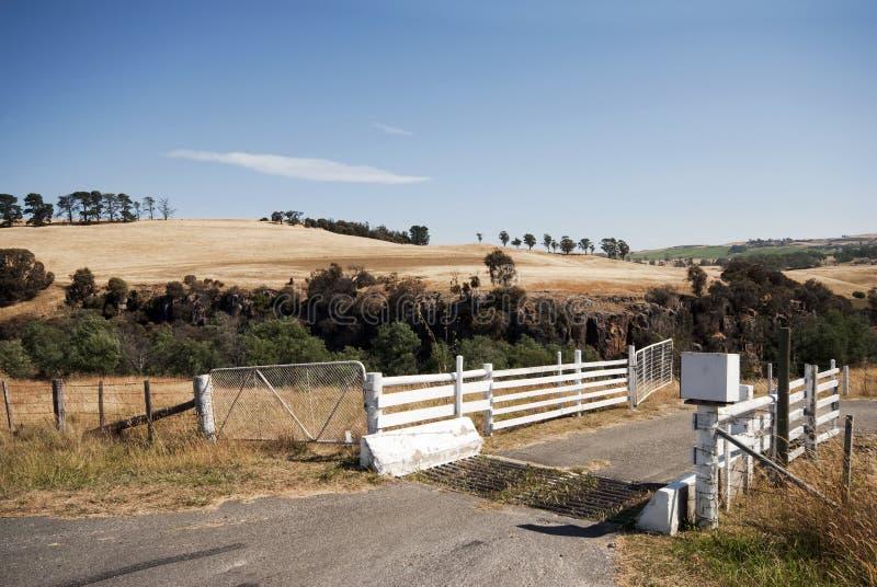Terra em Corra Lyn, Tasmânia, Austrália imagens de stock