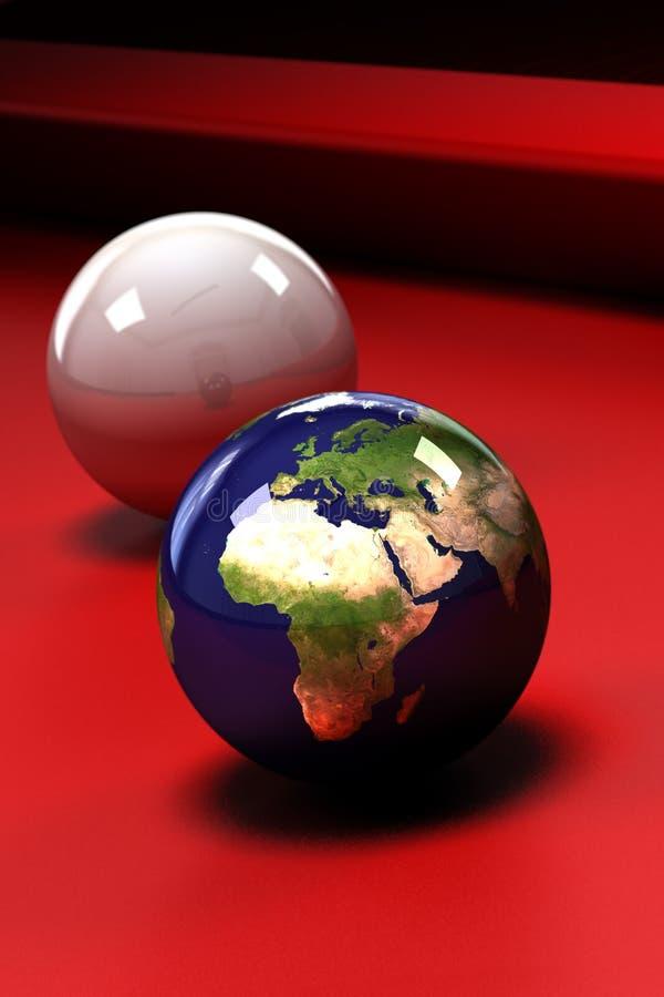 Terra em jogo ilustração royalty free