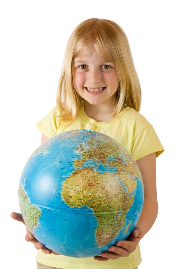 Terra em nossas mãos imagem de stock