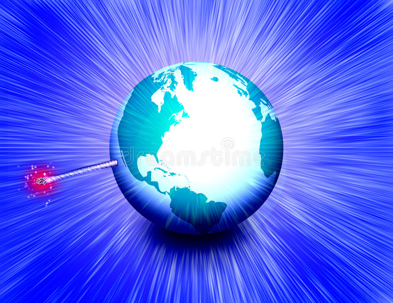 Terra esplosiva royalty illustrazione gratis