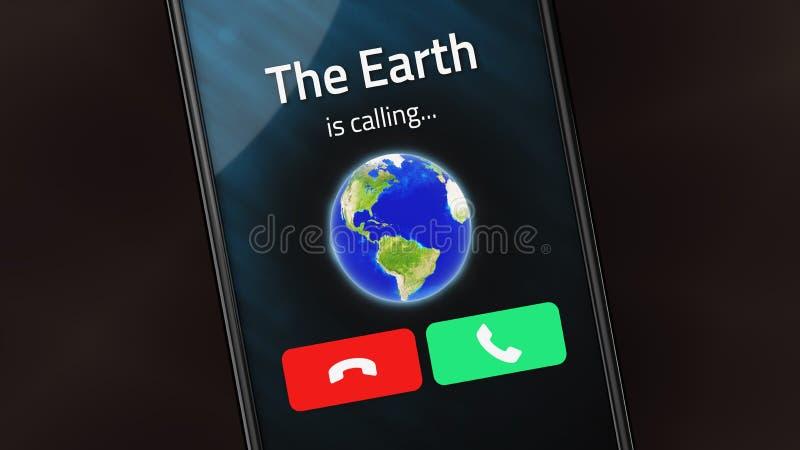 A terra está chamando foto de stock