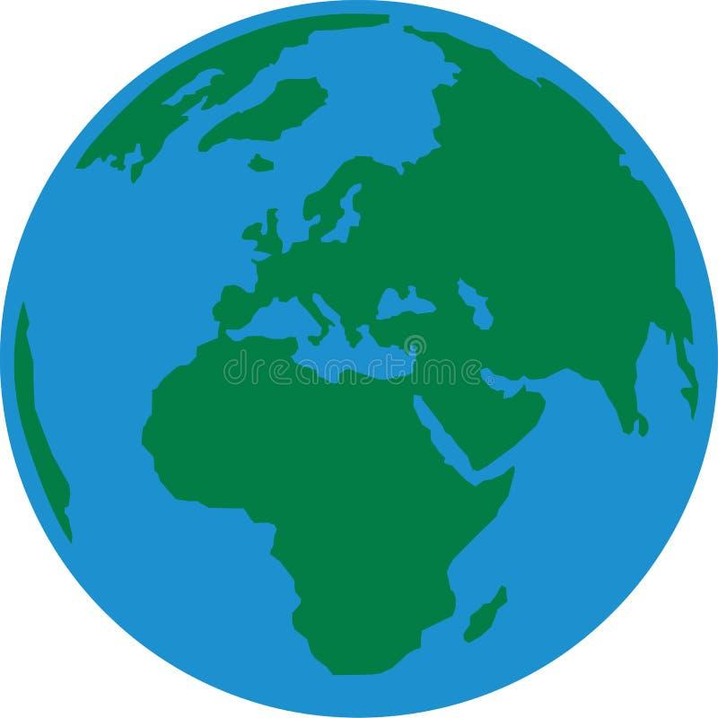 Terra Europa do planeta ilustração do vetor