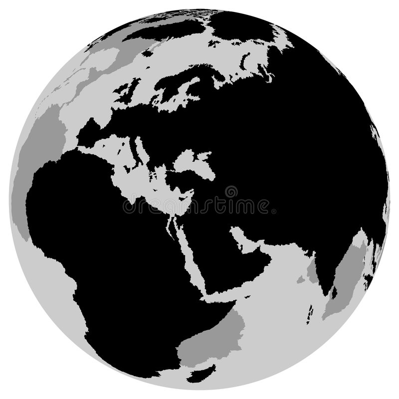 Terra Europa - globo royalty illustrazione gratis