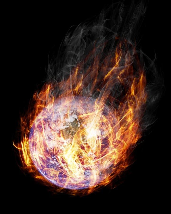 Terra in fiamme illustrazione di stock