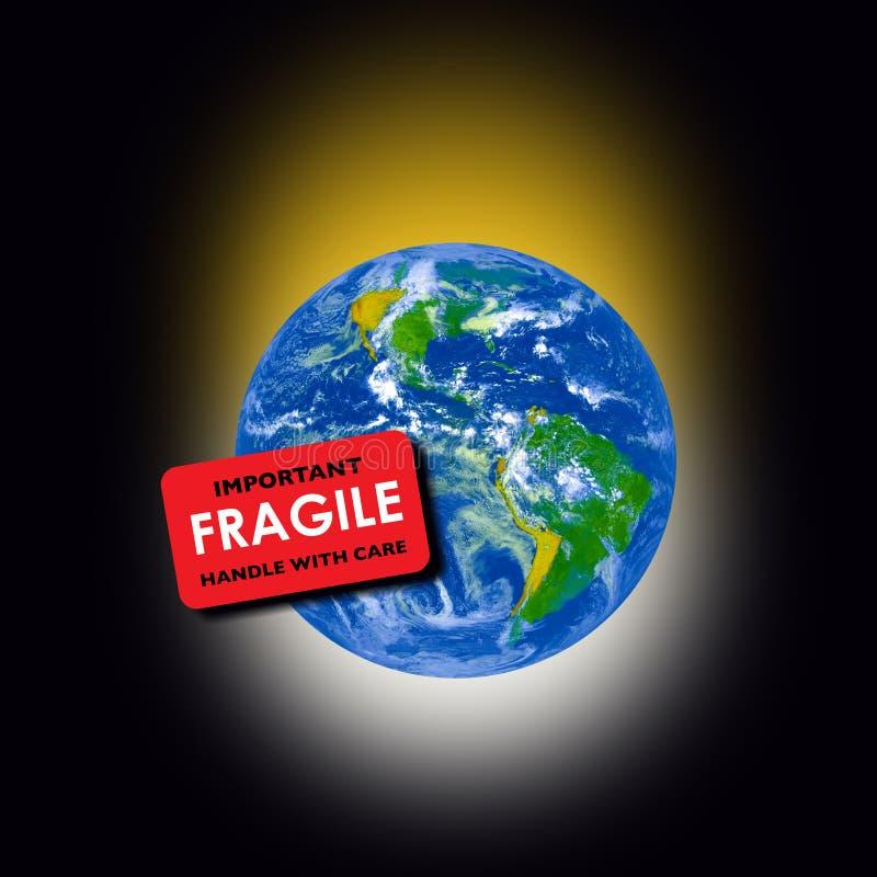Terra frágil do planeta ilustração do vetor
