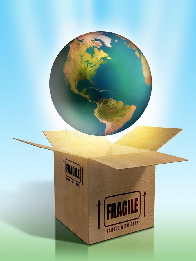 Terra fragile illustrazione vettoriale