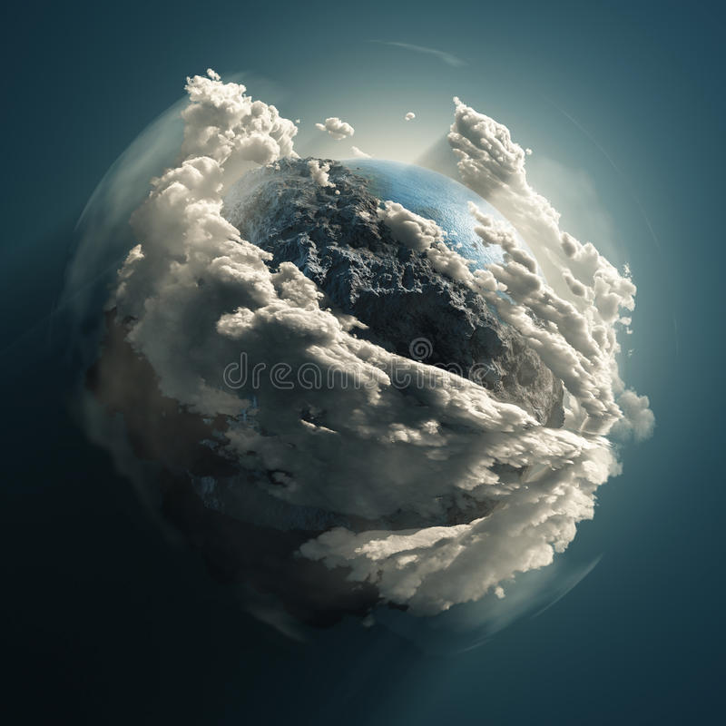 Terra fria ilustração stock