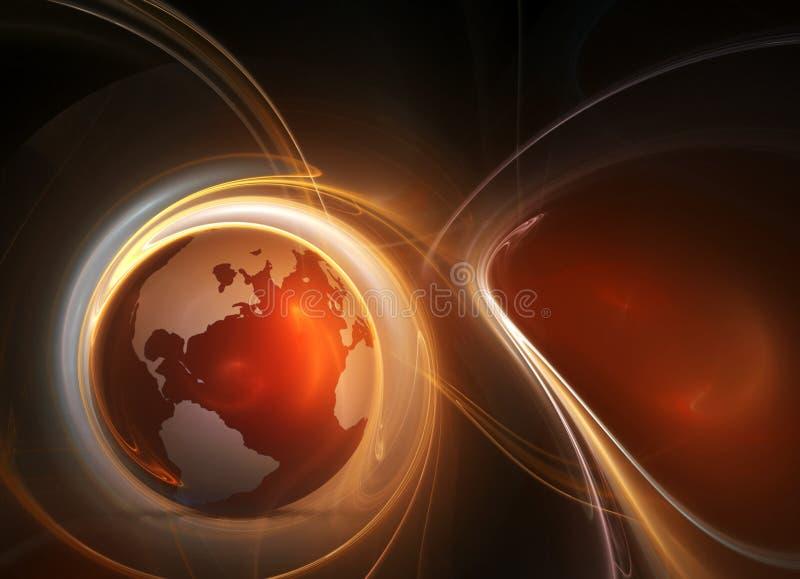 Terra in fuoco illustrazione vettoriale
