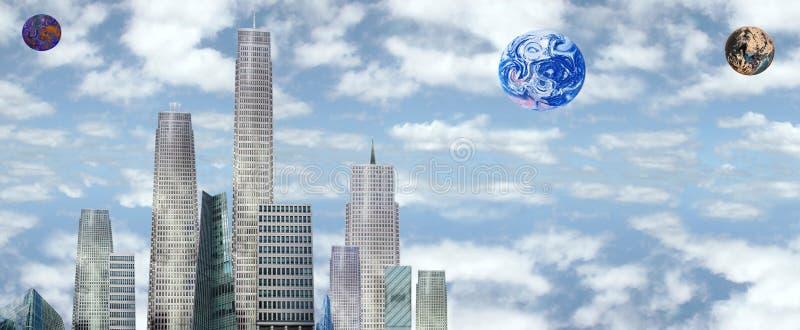 Terra futura illustrazione vettoriale