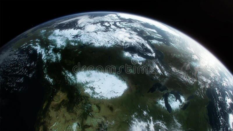 Terra, galáxia e sol Elementos desta imagem fornecidos pela NASA ilustração stock