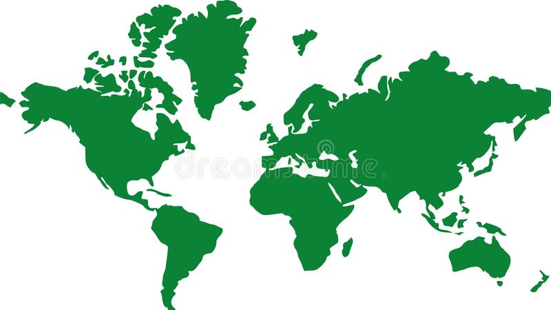 Terra globale della mappa di mondo illustrazione di stock