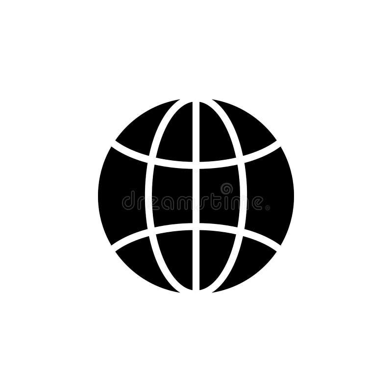 Terra, globale, pianeta, icona del mondo I segni ed i simboli possono essere usati per il web, logo, app mobile, UI, UX illustrazione di stock