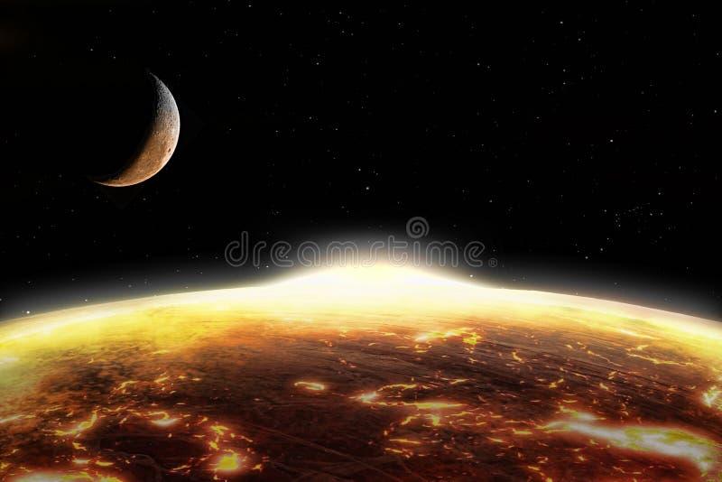 Terra globalmente aquecida ilustração stock